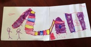 Preschooler drawing